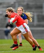 1 March 2020; Aisling Kelleher of Cork in action against Mary McHale of Mayo during the Lidl Ladies National Football League Division 1 match between Cork and Mayo at Mallow GAA Complex in Cork. Photo by Seb Daly/Sportsfile