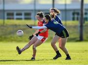 1 March 2020; Aine Terry of Cork in action against Ciara McManamon and Clodagh McManamon of Mayo during the Lidl Ladies National Football League Division 1 match between Cork and Mayo at Mallow GAA Complex in Cork. Photo by Seb Daly/Sportsfile