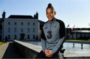 2 March 2020; Rianna Jarrett poses for a portrait during a Republic of Ireland Women media day at Johnstown House in Enfield, Co Meath. Photo by Seb Daly/Sportsfile