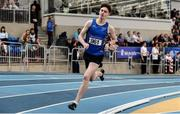1 March 2020; Cian McPhillips of Longford AC, competing in the Senior Men's 1500m event during Day Two of the Irish Life Health National Senior Indoor Athletics Championships at the National Indoor Arena in Abbotstown in Dublin. Photo by Sam Barnes/Sportsfile