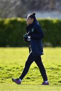 2 March 2020; Rianna Jarrett arrives prior to a Republic of Ireland Women training session at Johnstown House in Enfield, Co Meath. Photo by Seb Daly/Sportsfile