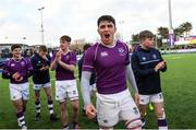 2 March 2020; Diarmuid McCormack of Clongowes Wood College following the Bank of Ireland Leinster Schools Senior Cup Semi-Final between Clongowes Wood College and St Vincent's, Castleknock College, at Energia Park in Donnybrook, Dublin. Photo by Ramsey Cardy/Sportsfile