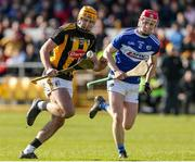 1 March 2020; Billy Ryan of Kilkenny in action against Liam Senior of Laois during the Allianz Hurling League Division 1 Group B Round 5 match between Laois and Kilkenny at UPMC Nowlan Park in Kilkenny. Photo by Michael P Ryan/Sportsfile