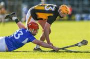 1 March 2020; Matthew Whelan of Laois in action against Billy Ryan of Kilkenny during the Allianz Hurling League Division 1 Group B Round 5 match between Laois and Kilkenny at UPMC Nowlan Park in Kilkenny. Photo by Michael P Ryan/Sportsfile
