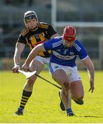 1 March 2020; Matthew Whelan of Laois in action against Walter Walsh of Kilkenny during the Allianz Hurling League Division 1 Group B Round 5 match between Laois and Kilkenny at UPMC Nowlan Park in Kilkenny. Photo by Michael P Ryan/Sportsfile