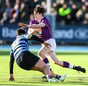 2 March 2020; Michael Spillane of Clongowes Wood College during the Bank of Ireland Leinster Schools Senior Cup Semi-Final between Clongowes Wood College and St Vincent's, Castleknock College, at Energia Park in Donnybrook, Dublin. Photo by Ramsey Cardy/Sportsfile