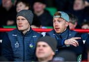 1 March 2020; William O'Donoghue and Cian Lynch of Limerick look on from the stand during the Allianz Hurling League Division 1 Group A Round 5 match between Limerick and Westmeath at LIT Gaelic Grounds in Limerick. Photo by Diarmuid Greene/Sportsfile