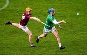 1 March 2020; Aaron Costello of Limerick in action against Niall Mitchell of Westmeath during the Allianz Hurling League Division 1 Group A Round 5 match between Limerick and Westmeath at LIT Gaelic Grounds in Limerick. Photo by Diarmuid Greene/Sportsfile