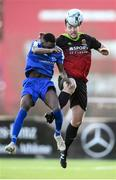 3 March 2020; Naythan Coleman of IT Carlow and Jeremiah Ioahor of IT Sligo during the Rustlers CFAI Cup Final match between IT Sligo and IT Carlow at Athlone Town Stadium in Athlone, Co Westmeath. Photo by Stephen McCarthy/Sportsfile