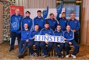3 March 2020; Special Olympics Team Leinster set their sights on Northern Ireland. Pictured are the men's first team Darragh Murphy, Josh Healy, Craig Clarke, Francis Power, Karl McMahon, Cooper Collins, Jamie Reilly, Maciej Ledzki, head coach Peter Merrins and chaperones Noel Dinney and Chris Butler at the launch at the Keadeen Hotel in Newbridge, Kildare. Photo by Harry Murphy/Sportsfile