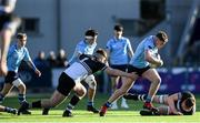 3 March 2020; Jack Boyle of St Michael's College and Peter Leavy of Newbridge College during the Bank of Ireland Leinster Schools Senior Cup Semi-Final match between St Michael's College and Newbridge College at Energia Park in Donnybrook, Dublin. Photo by Ramsey Cardy/Sportsfile