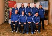 3 March 2020; Special Olympics Team Leinster set their sights on Northern Ireland. Pictured is the men's third team, Jason McGiven, Micheal Butler, Liam Brady, Mark Mahony, Michael Dinneny, Thomás Whit and Edward Coughlan at the launch at the Keadeen Hotel in Newbridge, Kildare. Photo by Harry Murphy/Sportsfile