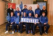 3 March 2020; Special Olympics Team Leinster set their sights on Northern Ireland. Pictured is Former GAA commentator Mícheál Ó Muircheartaigh and Republic of Ireland international Stephanie Roche with the men's second team, Stuart Walsh, Daragh Hastings, John Butler, Liam McDonnell, Ian McNamee, Richard Leonard, Paul McGuinness and Lukasz Cisowski at the launch at the Keadeen Hotel in Newbridge, Kildare. Photo by Harry Murphy/Sportsfile