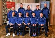 3 March 2020; Special Olympics Team Leinster set their sights on Northern Ireland. Pictured is the men's second team, Stuart Walsh, Daragh Hastings, John Butler, Liam McDonnell, Ian McNamee, Richard Leonard, Paul McGuinness and Lukasz Cisowski at the launch at the Keadeen Hotel in Newbridge, Kildare. Photo by Harry Murphy/Sportsfile