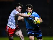 29 February 2020; Kevin McManamon of Dublin in action against Rory Brennan of Tyrone during the Allianz Football League Division 1 Round 5 match between Tyrone and Dublin at Healy Park in Omagh, Tyrone. Photo by Oliver McVeigh/Sportsfile