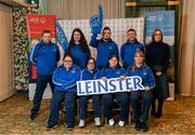 3 March 2020; Special Olympics Team Leinster set their sights on Northern Ireland. Pictured is the CEO of Kare, Deirdre Murphy with the Kare Services team, Kildare, Deirdre Dunne, Samantha Duggan, Amy Crofton, Deborah McGovern and Craig Clarke at the launch at the Keadeen Hotel in Newbridge, Kildare. Photo by Harry Murphy/Sportsfile