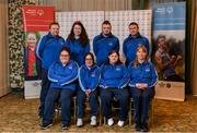 3 March 2020; Special Olympics Team Leinster set their sights on Northern Ireland. Pictured is the Kare Services team, Kildare, Deirdre Dunne, Samantha Duggan, Amy Crofton, Deborah McGovern and Craig Clarke at the launch at the Keadeen Hotel in Newbridge, Kildare. Photo by Harry Murphy/Sportsfile