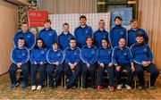 3 March 2020; Special Olympics Team Leinster set their sights on Northern Ireland. Pictured is the Navan Arch, Meath, athletes, Michelle Dunne, Emma Murray, Bridget Power, Joanne Power, Liam Brady, Francis Power, Stuart Walsh, Daragh Hastings, John Butler, Karl McMahon, Cooper Collins, Jamie Reilly and Maciej Ledzki at the launch at the Keadeen Hotel in Newbridge, Kildare. Photo by Harry Murphy/Sportsfile