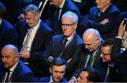 3 March 2020; Republic of Ireland manager Mick McCarthy during the 2020/21 UEFA Nations League Draw at Beurs van Berlage Conference Centre in Amsterdam, Netherlands. Photo by UEFA via Sportsfile