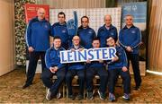 3 March 2020; Special Olympics Team Leinster set their sights on Northern Ireland. Pictured is the Naas Special Olympics Club, Kildare, Darragh Murphy, Josh Healy, Mark Mahony, Michael Dinneny, Lukasz Cisowski, Paul McGuinness, head coach Peter MErrins and chaperones Noel Dinney and Dennis Logan at the launch at the Keadeen Hotel in Newbridge, Kildare. Photo by Harry Murphy/Sportsfile