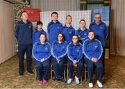 3 March 2020; Special Olympics Team Leinster set their sights on Northern Ireland. Pictured are the Drogheda Special Olympics Club, Louth, Jason McGivern, Brid Heeney, Ian McNamee, Richard Leonard, Shauna O'Mara, Liam McDonnell, Michael Butler, Geraldine Ward, chairperson John McNamee and chaperone Joanna McArdle at the launch at the Keadeen Hotel in Newbridge, Kildare. Photo by Harry Murphy/Sportsfile