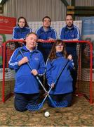3 March 2020; Special Olympics Team Leinster set their sights on Northern Ireland. Pictured are Laochra Laois athletes, Alanna Browne, Edward Coughlan, Niamh McEvoy and Thomás White and head coach Paddy Slattery at the launch at the Keadeen Hotel in Newbridge, Kildare. Photo by Harry Murphy/Sportsfile