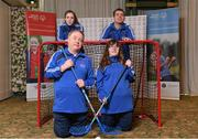3 March 2020; Special Olympics Team Leinster set their sights on Northern Ireland. Pictured are Laochra Laois athletes, Alanna Browne, Edward Coughlan, Niamh McEvoy and Thomás White at the launch at the Keadeen Hotel in Newbridge, Kildare. Photo by Harry Murphy/Sportsfile