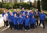 3 March 2020; Special Olympics Team Leinster set their sights on Northern Ireland. Pictured are the athletes from Kildare, Craig Clarke, Amy Crofton, Samantha Duggan, Deirdre Dunne, Deborah McGovern, Lukasz Cisowski, Michael Dinneny, Josh Healy, Mark Mahony, Paul McGuinness, Darragh Murphy, head coaches Peter Merrins, Ken Kavanagh, Eamonn Quirke, chaperones Dennis Logan, Noel Dinney and Maria O'Reilly and councillor Anne Breen at the launch at the Keadeen Hotel in Newbridge, Kildare. Photo by Harry Murphy/Sportsfile