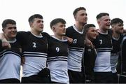 3 March 2020; Newbridge College players, Geoff McNelis, Cormac King, Donough Lawlor, and Luke Dunleavy, following the Bank of Ireland Leinster Schools Senior Cup Semi-Final match between St Michael's College and Newbridge College at Energia Park in Donnybrook, Dublin. Photo by Ramsey Cardy/Sportsfile