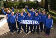 3 March 2020; Special Olympics Team Leinster set their sights on Northern Ireland. Pictured are coaches Gerry Flynn, Peter Merrins, Ken Kavanagh, Eamonn Quirke, Paddy Slattery, Maria O'Reilly, Noel Dinneny, Joanna McArdle, Christopher Butlet, David Reilly and Deninis Logan at the launch at the Keadeen Hotel in Newbridge, Kildare. Photo by Harry Murphy/Sportsfile