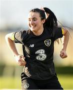 4 March 2020; Niamh Farrelly during a Republic of Ireland Women training session at Johnstown Estate in Enfield, Co Meath. Photo by Eóin Noonan/Sportsfile