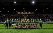 4 March 2020; The Kerry squad before the EirGrid Munster GAA Football U20 Championship Final match between Kerry and Cork at Austin Stack Park in Tralee, Kerry. Photo by Piaras Ó Mídheach/Sportsfile
