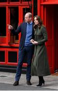 5 March 2020; Prince William, Duke of Cambridge and Catherine, Duchess of Cambridge outside Tig Coili pub, Galway City Centre, during day three of their visit to Ireland. Photo by Sam Barnes/Sportsfile