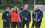 5 March 2020; Prince William, Duke of Cambridge and Catherine, Duchess of Cambridge in conversation with representatives from Knocknacarra GAA Club, Noel Tyrrell, Juvenile Football Director, left, and John Reilly, Ladies Football Director, during an engagement at Salthill Knocknacarra GAA Club in Galway during day three of their visit to Ireland. Photo by Sam Barnes/Sportsfile
