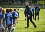 5 March 2020; Prince William, Duke of Cambridge makes an attempt at Gaelic football during an engagement at Salthill Knocknacarra GAA Club in Galway during day three of his visit to Ireland. Photo by Sam Barnes/Sportsfile