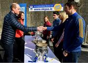 5 March 2020; Prince William, Duke of Cambridge meets with All-Ireland GAA winning captain Seamus Callanan of Tipperary at Salthill Knocknacarra GAA Club in Galway a during day three of their visit to Ireland. Photo by Sam Barnes/Sportsfile
