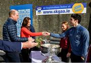 5 March 2020; Catherine, Duchess of Cambridge, and Prince William, Duke of Cambridge, meet with former Dublin footballer Bernard Brogan at Salthill Knocknacarra GAA Club in Galway a during day three of their visit to Ireland. Photo by Sam Barnes/Sportsfile