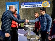 5 March 2020; Prince William, Duke of Cambridge, meets with former Dublin footballer Bernard Brogan at Salthill Knocknacarra GAA Club in Galway a during day three of their visit to Ireland. Photo by Sam Barnes/Sportsfile