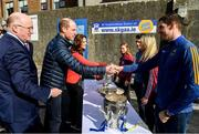 5 March 2020; Uachtarán Chumann Lúthchleas Gael John Horan, left, with, Prince William, Duke of Cambridge, Catherine, Duchess of Cambridge meet with, from left, Galway camogie player Tara Kenny, former Dublin Gaelic footballer Bernard Brogan, Galway camogie player Sarah Dervan and Seamus Callanan of Tipperary, at Salthill Knocknacarra GAA Club in Galway a during day three of their visit to Ireland. Photo by Sam Barnes/Sportsfile