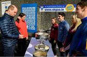 5 March 2020; Prince William, Duke of Cambridge, Catherine, Duchess of Cambridge, meet with, from left, Galway camogie player Tara Kenny, former Dublin Gaelic footballer Bernard Brogan, Galway camogie player Sarah Dervan and Seamus Callanan of Tipperary, at Salthill Knocknacarra GAA Club in Galway a during day three of their visit to Ireland. Photo by Sam Barnes/Sportsfile