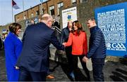 5 March 2020; Catherine, Duchess of Cambridge, meets with Uachtarán Chumann Lúthchleas Gael John Horan at Salthill Knocknacarra GAA Club in Galway a during day three of their visit to Ireland. Photo by Sam Barnes/Sportsfile