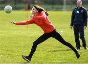 5 March 2020; Catherine, Duchess of Cambridge during an engagement at Salthill Knocknacarra GAA Club in Galway during day three of her visit to Ireland. Photo by Sam Barnes/Sportsfile
