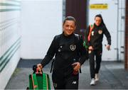 5 March 2020; Katie McCabe of Republic of Ireland arrives prior to the UEFA Women's 2021 European Championships Qualifier match between Republic of Ireland and Greece at Tallaght Stadium in Dublin. Photo by Stephen McCarthy/Sportsfile