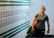 5 March 2020; Claire O'Riordan of Republic of Ireland arrives prior to the UEFA Women's 2021 European Championships Qualifier match between Republic of Ireland and Greece at Tallaght Stadium in Dublin. Photo by Stephen McCarthy/Sportsfile