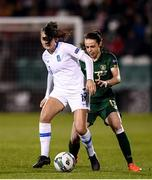 5 March 2020; Athanasia Moraitou of Greece in action against Aine O'Gorman of Republic of Ireland  during the UEFA Women's 2021 European Championships Qualifier match between Republic of Ireland and Greece at Tallaght Stadium in Dublin. Photo by Stephen McCarthy/Sportsfile