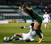5 March 2020; Anastasia Gkatsou of Greece in action against Katie McCabe of Republic of Ireland during the UEFA Women's 2021 European Championships Qualifier match between Republic of Ireland and Greece at Tallaght Stadium in Dublin. Photo by Stephen McCarthy/Sportsfile