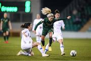 5 March 2020; Denise O'Sullivan of Republic of Ireland in action against Natalia Chatzigiannidou, left, and Danai-Eleni Sidira of Greece during the UEFA Women's 2021 European Championships Qualifier match between Republic of Ireland and Greece at Tallaght Stadium in Dublin. Photo by Stephen McCarthy/Sportsfile