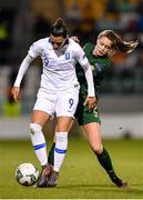 5 March 2020; Sofia Kongouli of Greece in action against Heather Payne of Republic of Ireland during the UEFA Women's 2021 European Championships Qualifier match between Republic of Ireland and Greece at Tallaght Stadium in Dublin. Photo by Seb Daly/Sportsfile