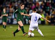 5 March 2020; Heather Payne of Republic of Ireland in action against Kyriaki Kynossidou of Greece during the UEFA Women's 2021 European Championships Qualifier match between Republic of Ireland and Greece at Tallaght Stadium in Dublin. Photo by Seb Daly/Sportsfile