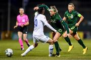 5 March 2020; Ruesha Littlejohn of Republic of Ireland in action against Natalia Chatzinikolaou of Greece during the UEFA Women's 2021 European Championships Qualifier match between Republic of Ireland and Greece at Tallaght Stadium in Dublin. Photo by Seb Daly/Sportsfile